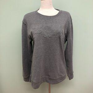 Fila | Women's Pullover Grey Sweatshirt | Size XL